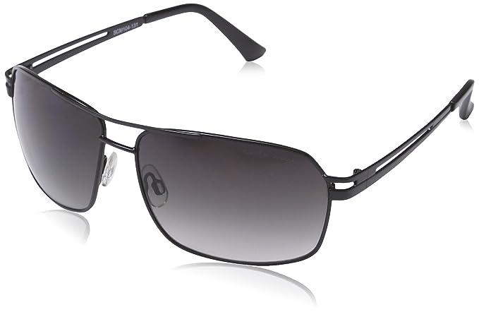 905bfcbfd9 Carlo Monti - Gafas de sol Rectangulares SCM104-131 para hombre, Black