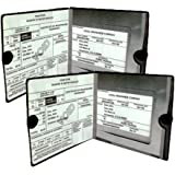 ESSENTIAL Car Auto Insurance Registration BLACK Document Wallet Holders 2 Pack - [BUNDLE, 2pcs] - Automobile, Motorcycle…