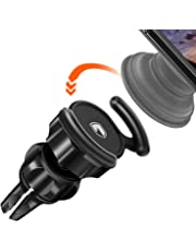 FITFORT Universal Air Vent Car Mount - 360° Rotation Clip Car Mount Phone Holder with Adjustable Switch Lock for All Smartphones GPS Navigation