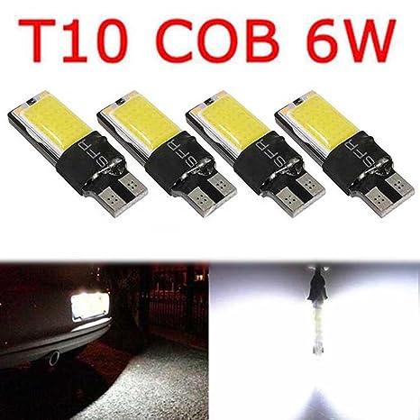 10Pcs T10 Led Canbus Error Free 5SMD Car Side Wedge Light Bulb White 168 194