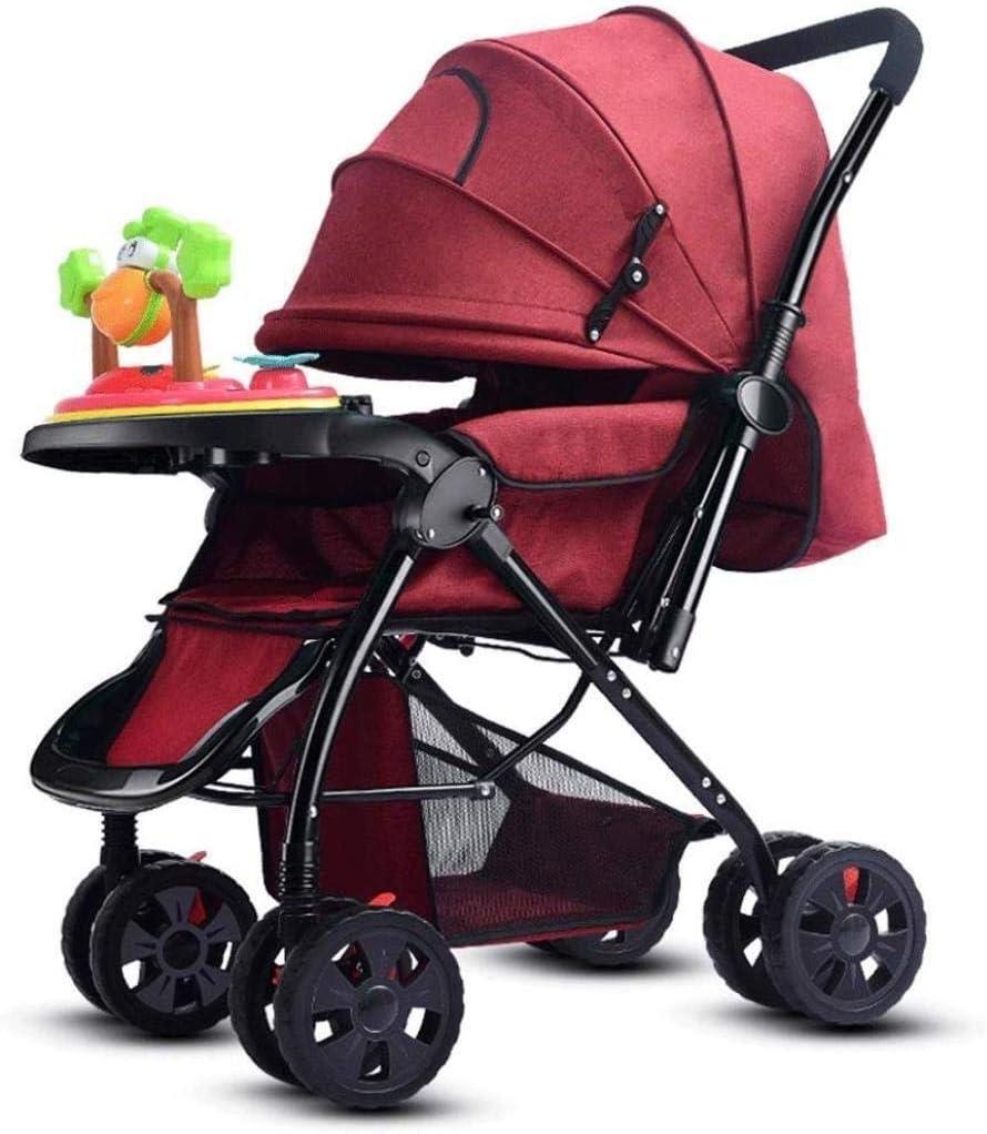 ベビージョガー市ベビーカー、ベビーカーベビーカーベビーカー、傘音楽トレイベビーカー赤ちゃんベビーカー (Color : E, Size : One size)