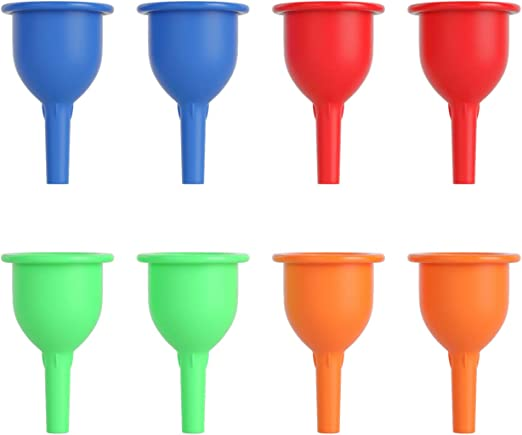 Amazon Com Joyoldelf Silicone Funnels For Filling Bottles 8 Pack Small Kitchen Funnel Set For Transferring Perfume Liquid Oil Powder Kitchen Dining