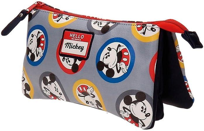 Estuche tres compartimentos Mickey Circles: Amazon.es: Equipaje