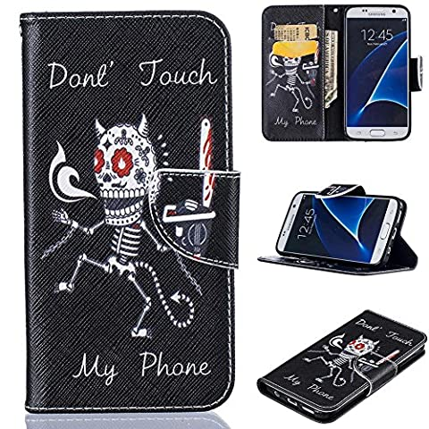 Galaxy S7 Case, Firefish [Card Slots] Kickstand Synthetic Leather Flip Folio Wallet Magnetic Clip Scratch Proof Durable Protect Cover for Samsung Galaxy S7 - 9 Junior Liquid