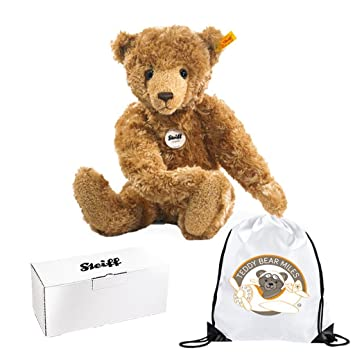 Number One Authentic Steiff George Teddy Bear - 40 cm and Reusable Gift Bag  - Full 2727354a49c64