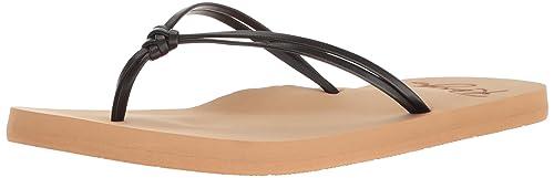 119d2c8e72efd Roxy Women s Lahaina Sandal Flip Flop Black 8 ...