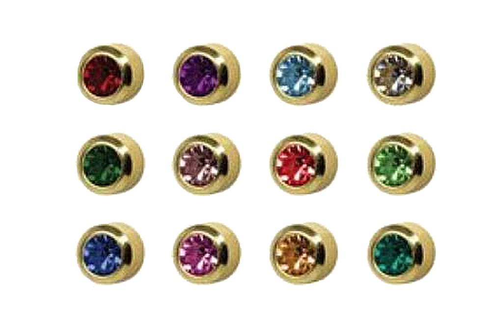 Surgical Steel 4mm Ear Piercing Studs, 12 Pair Mixed Colors