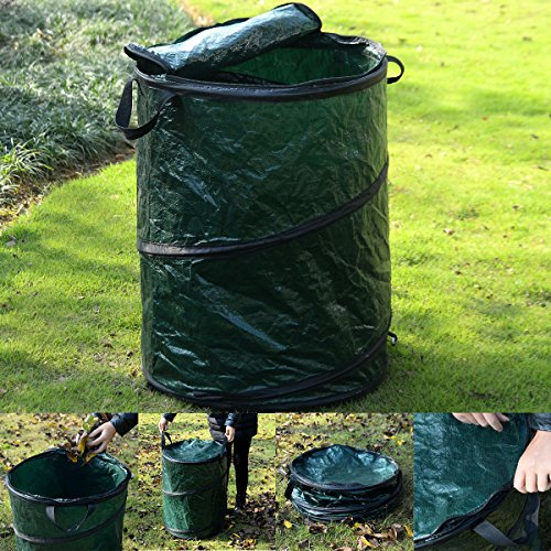 [New Collapsible Pop-Up Camp Trash Can Portable Outdoor Garbage Hiking Storage] (Recycle Bin Costume)