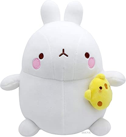 """10/"""" Toy Combo Deal Molang Soft Baby Stuffed Doll Mochi Cute Toy 5/"""" Keyring"""