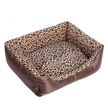 Black Manba Cama para Perros Sofá para Mascotas Otoño E Invierno Mascota Nido Moda Leopardo Cuadrado Cuadrado Lavable Gato Litera Mascota Sofá Cama,XXL: ...