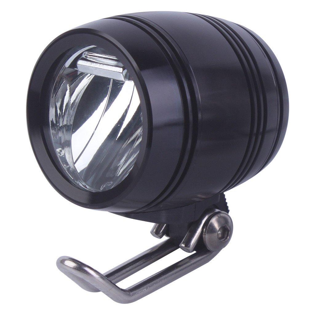ZOOMPOWER 6v-80v 24v 36v 48v 60v universal compatitable 3w 100 lux bike electric bicycle e-bike headlight front light headlamp by ZOOMPOWER (Image #1)