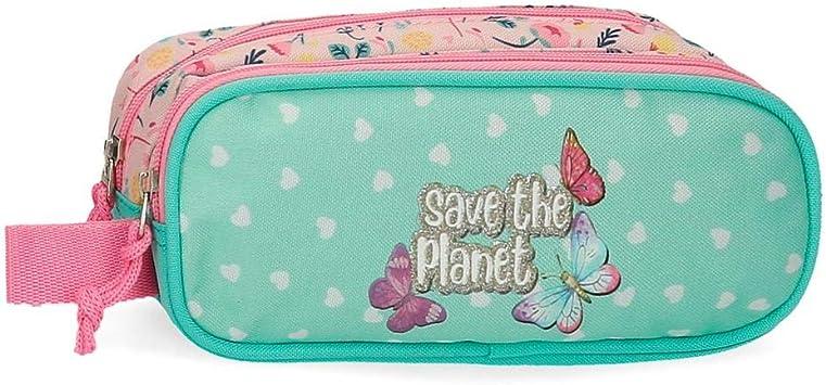 Movom Estuche Save The Planet Dos Compartimentos, Multicolor, 23x9x7 cm: Amazon.es: Equipaje