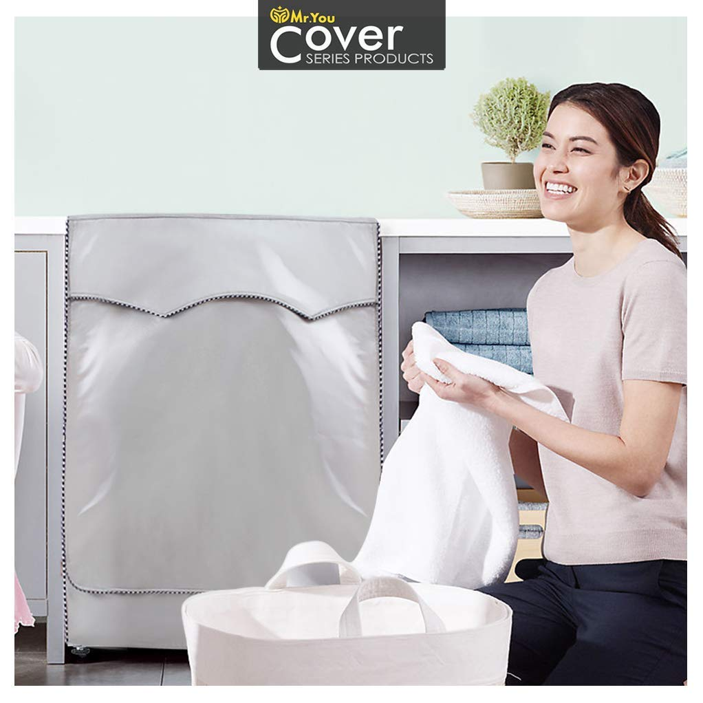 Washer/Dryer cover For Front-loading machine Waterproof dustproof Thin D25W23H33, No Lace Appliances