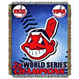 MLB Cleveland Indians Commemorative Acrylic Tapestry Throw Blanket