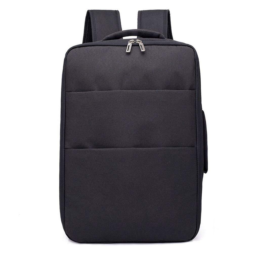 DYR Computer Bag Outdoor Travel Bag Casual Backpack Men and Women Large pacity USB Rechargeable Backpack Shoulder Bag Handbag, Black, 15.6 Inch