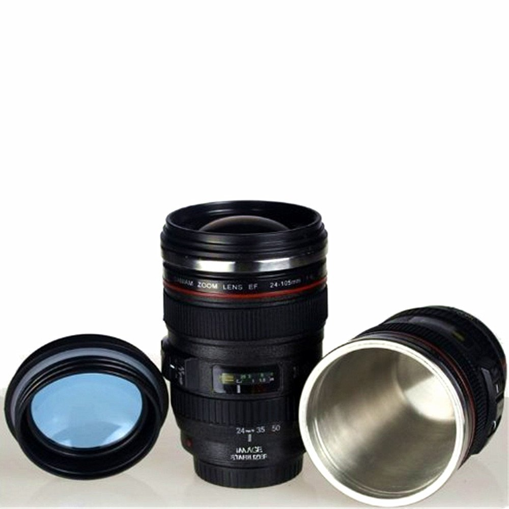 24 105mm Leakage Proof Canaim Camera Zoom Lens Cup Mug Canon Ef Gelas Travel Coffee Outdoor Slr Unique Water Glass Thermos With Drinking Lid Quality
