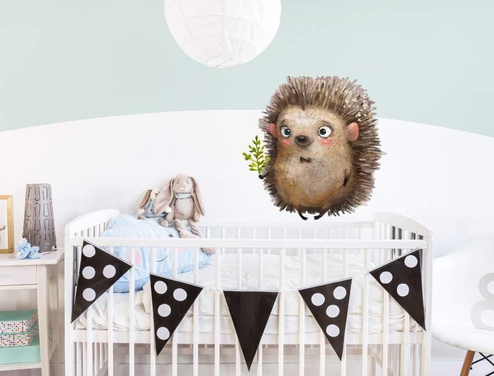 dekodino® Pegatina de pared animales de acuarela erizo bebé con ...