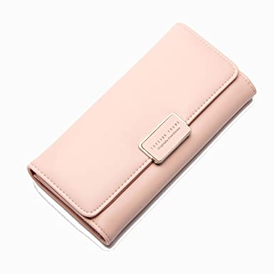 2018 Brand Latest Soft Leather Long Women Wallet Change Hasp Clasp Purse Clutch Money Phone Card