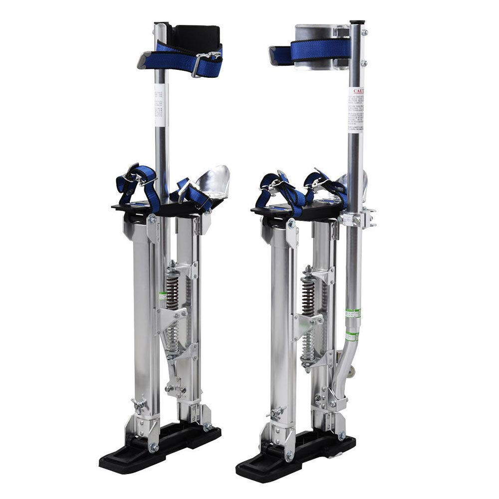 Store LLC Heavy Duty New Drywall Stilts 15-23 Inch for Walking Taping Painter Aluminum Material Tool Silver Color