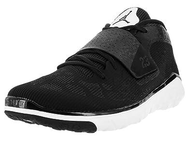 huge selection of 926b0 a397c Nike Jordan Mens Jordan Flight Flex Trainer 2 White/Black/White Basketball  Shoe 10 Men US