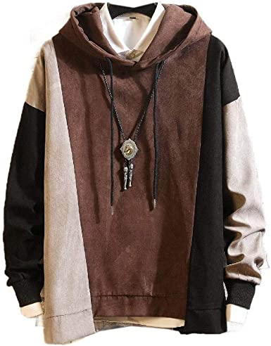 Vska Mens Mid Long Hooded Full-Zip Plus Size Hoodie Shirt Top