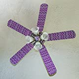 Fancy Blade Ceiling Fan Accessories Blade Cover Decoration, Magenta Chevron