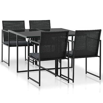 Fesjoy Conjunto de Muebles de jardín Juego de Mesa de ...