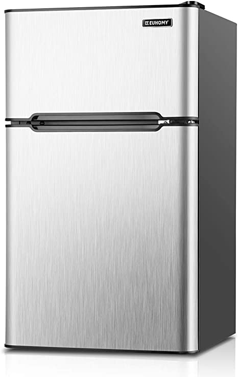 Euhomy Mini Fridge With Freezer 3 2 Cu Ft Com