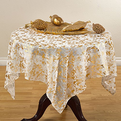 Gold Foil Print Design Special Occasion Holiday Table Topper, 52