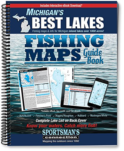 Lake Fishing Map (Michigan's Best Lakes Fishing Maps Guide Book)
