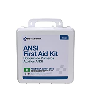 First Aid Only 90566 50 Person Bulk ANSI B, First Aid Kit, Plastic, Weatherproof