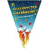1 Wimpelkette Alles Gute zur Jugendweihe, 10 Meter
