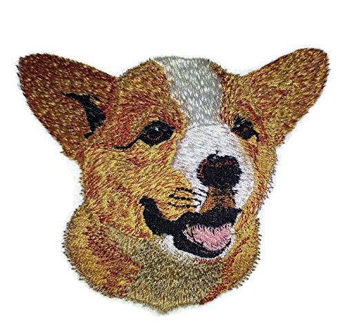 Amazing Dog Faces[ Pembroke Welsh Corgi Dog Face] Embroidery Iron On/Sew patch [4
