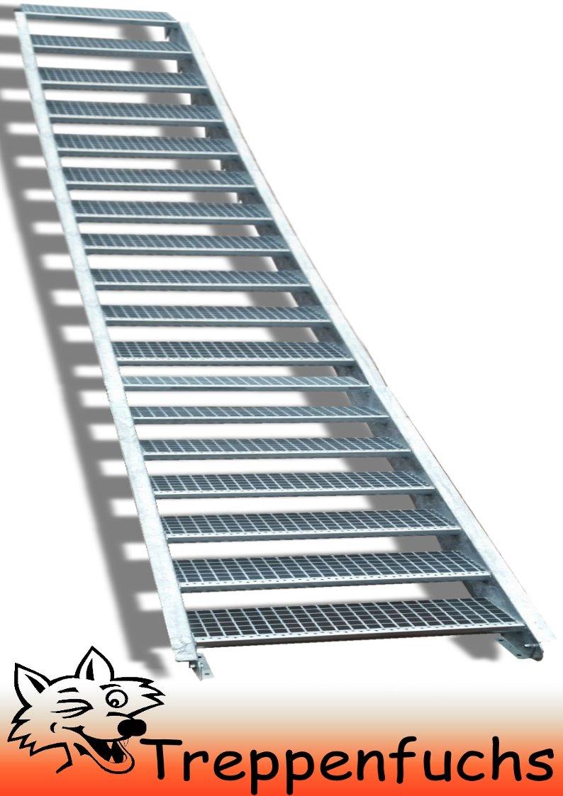 18 Stufen / 100cm breit / Höhe 299 - 360cm