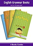 Nuture English Grammar Books for Kids   5 to 10 Year Old Children   Grammar and Composition Practice Exercises with Answers for Primary Students   Book 1 to 4 - Pack of 4 Books