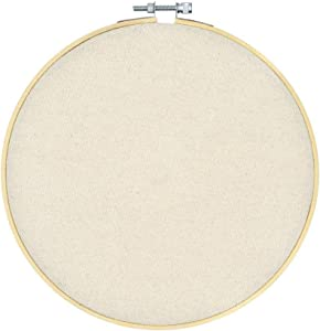 REOVE Wall Hanging Pin Collection Display Stand Enamel Pin Display Holder Display Board, Canvas Leather Embroidery Hoop for Display Pins Buttons Wall Decoration (Primary-Cavas)