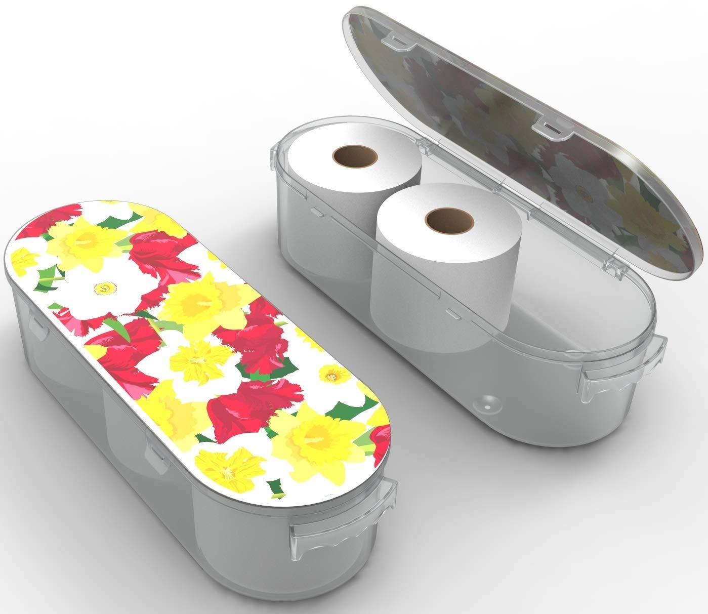"Koribox - 4"" Toilet Paper Holder Storage - 9"