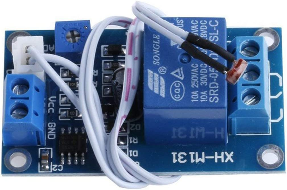 XH-M131 Interrupteur de contr/ôle de lumi/ère Photor/ésistance Module de relais D/étecteur D/étecteur 10A luminosit/é Module de contr/ôle automatique