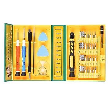 MMOBIEL Set Profesional de Destornilladores magnéticos de precisión Multi-propósito de 38 Piezas. Kit de Herramientas Universal para reparación de ...