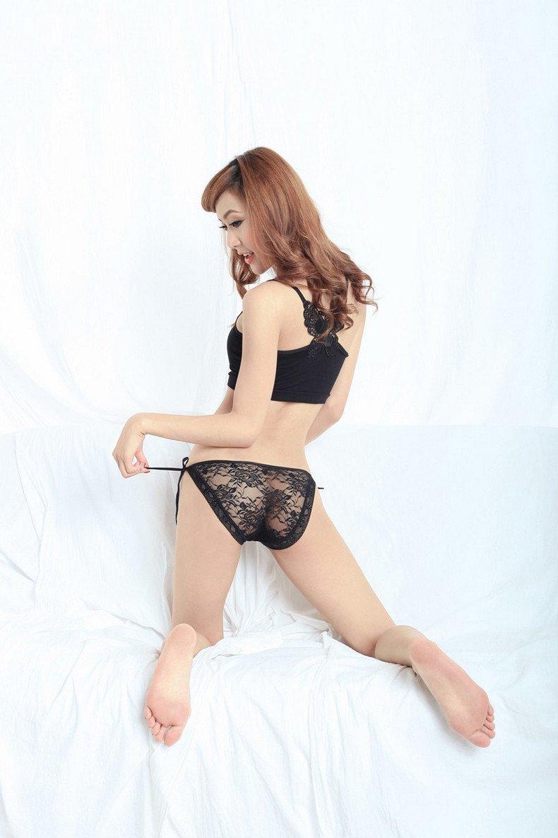 Diversión sexy RangYR RangYR RangYR Sensación de Otoño de ropa interior femenina lencería fina transparente hilo de encaje bordado triangular femenino pantalones pantalones t,F,rojo a0640a
