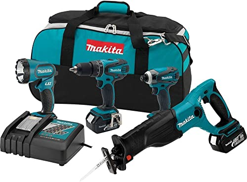 Makita XT407 18V Lithium-Ion Cordless Combo Kit, 4-Piece Discontinued by Manufacturer