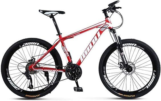 AISHFP Propósito General Mujer Hombre Bicicleta de montaña, Motos de Nieve Playa de Bicicletas, Bicicletas de Doble Freno de Disco para Adultos, de 26 Pulgadas de aleación de Aluminio Ruedas: Amazon.es: Deportes
