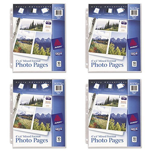 Format Photo - Avery Mixed Format Photo Pages, Acid Free, Pack of 10 (13401), 4 Packs