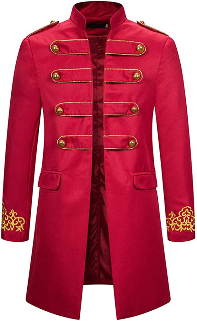 Corriee Mens Vintage Tailcoat Jacket Gothic Overcoat Wedding Banquet Praty Outwear Men's Steampunk Coat