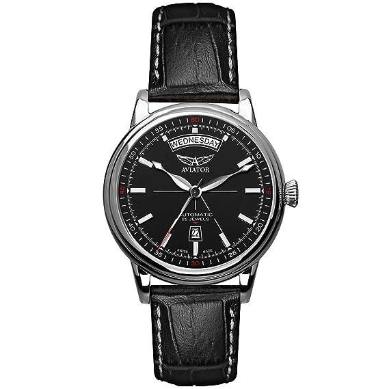 Aviator Douglas - Reloj de Pulsera con Fecha para Hombre: Amazon.es: Relojes