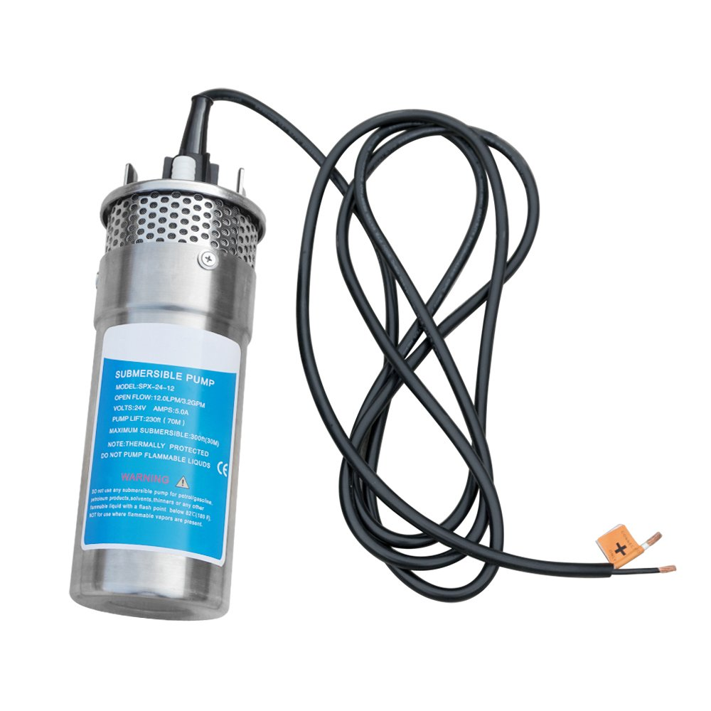 ECO-WORTHY 24V DC Stainless Solar Powered Submersible Water Well Pump 230'/70m Lift Stainless Water Pump by ECO-WORTHY (Image #2)