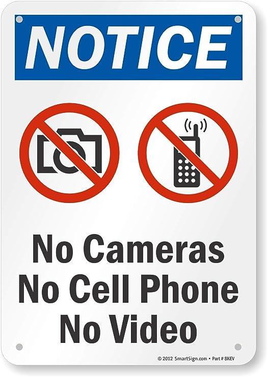 Aviso - no (con no de vídeo cámaras sin teléfono móvil sin ...