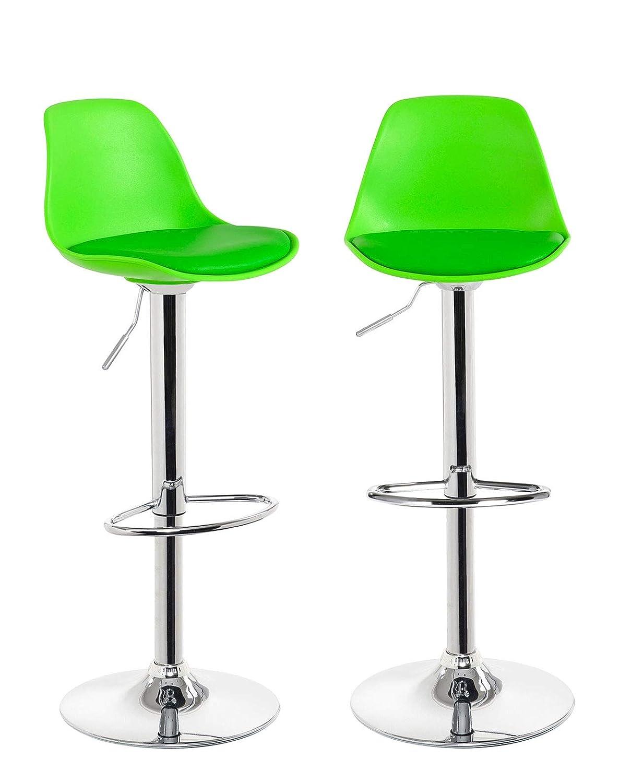 Kayelles - Taburetes de barra de cocina Design Sig – Juego de 2 sillas de bar regulable