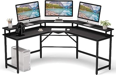 L Shaped Corner Desk Computer Gaming Desk PC Laptop Writing Study Workstation