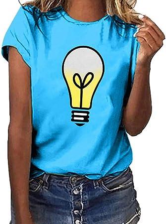 Keepwin ¡Nueva! Camiseta Verano Mujer Blusa Moda Camiseta ...